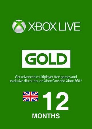 Xbox Live GOLD Subscription Card XBOX LIVE UNITED KINGDOM 12 Months - box