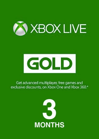 Xbox Live GOLD Subscription Card 3 Months EUROPE XBOX LIVE - box