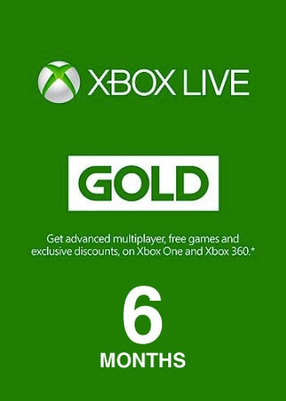Xbox Live GOLD Subscription Card 6 Months Xbox Live EUROPE