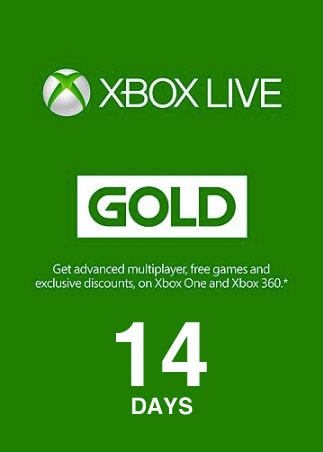 Xbox Live Gold Trial Code XBOX LIVE 14 Days GLOBAL - box