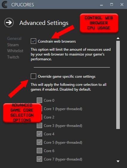 CPUCores :: Maximize Your FPS GLOBAL Key Steam - zrzut ekranu - 2