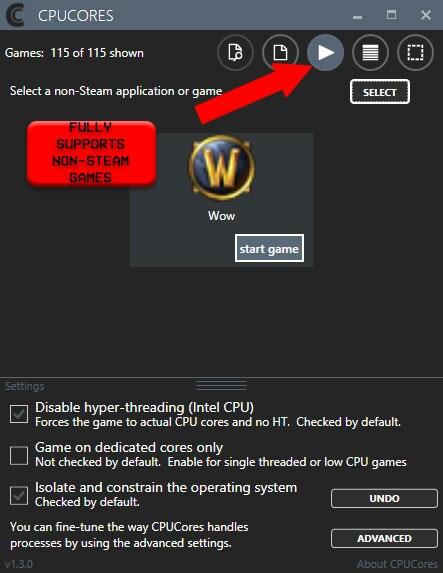 CPUCores :: Maximize Your FPS GLOBAL Key Steam - zrzut ekranu - 4