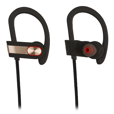 [REYTID] Wireless Sports Earphones w/ In-Line Microphone & Volume Control - HD Sound - Gold/Black Multi-Color
