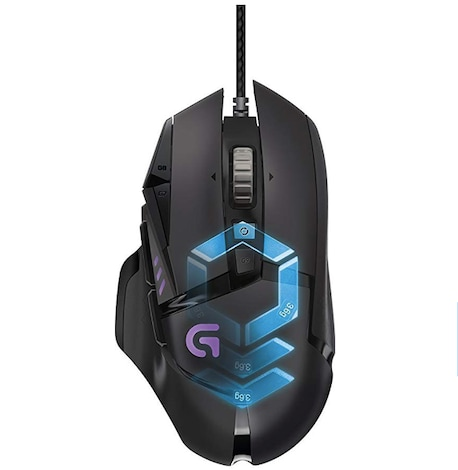 Logitech Gaming Mouse Proteus Spectrum RGB Tuneable with 11 Programmable Buttons - Black