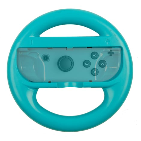 [REYTID] 2 Blue Nintendo Switch Joy-Con Racing Steering Wheel Controller Game Holder Pair Twin