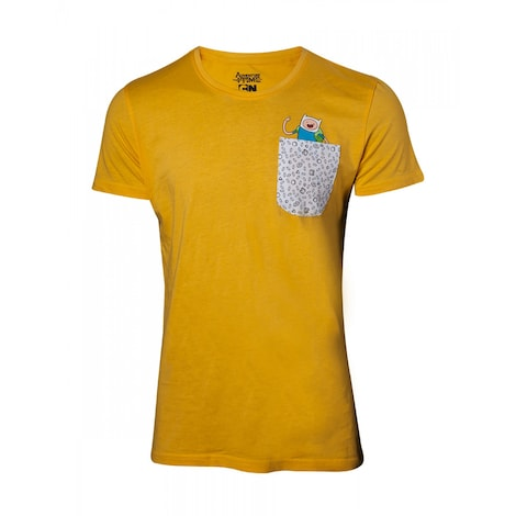 ADVENTURE TIME: Jake And Finn In Chestpocket Men's T-Shirt S Yellow