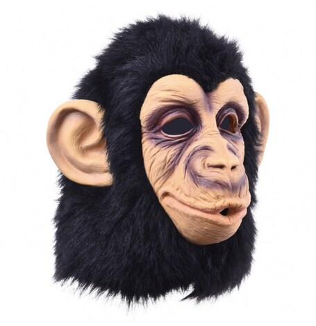 Funny Monkey Head Latex Mask Full Face