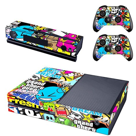 [REYTID] Xbox One Console Skin / Sticker + 2 x Controller Decals & Kinect Wrap - Big Graffiti XBOX ONE Multi-colour
