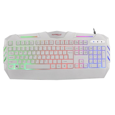Wired Mini Keyboard - With colorful LED White