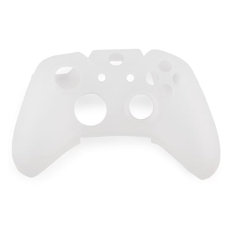 [REYTID] Xbox ONE Controller Skin Silicone Protective Rubber Cover Gel Grip Case - Clear/White White XBOX ONE