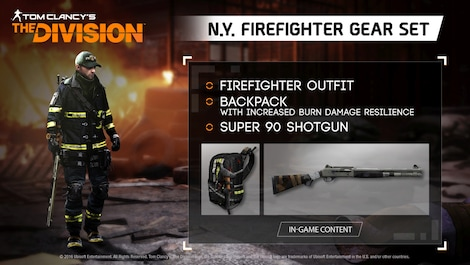 Tom Clancy's The Division - N.Y. Firefighter Gear Set Key Uplay GLOBAL