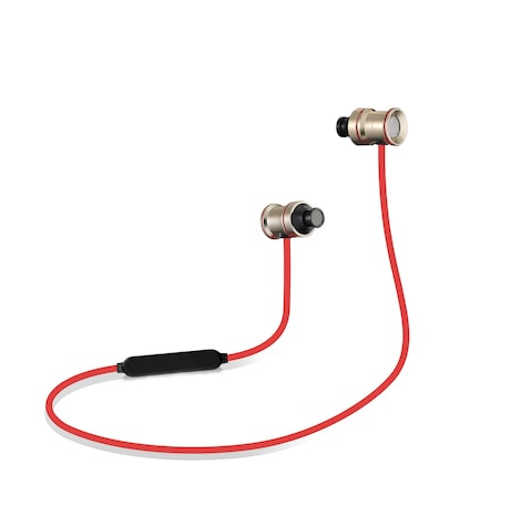 [REYTID] Wireless In-Ear Sports Earphones w/ In-Line Microphone & Volume Control - Gold/Red Multi-Colored