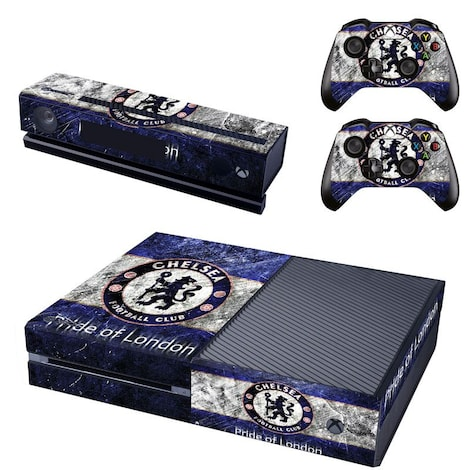 [REYTID] Xbox One Console Skin / Sticker + 2 x Controller Decals & Kinect Wrap - Chelsea Multi-colour XBOX ONE