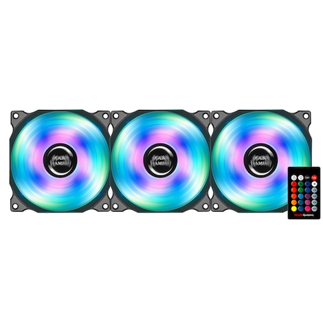 Mars Gaming MFRGBKIT - 3 RGB PC fan pack with LED lighting 4 effects