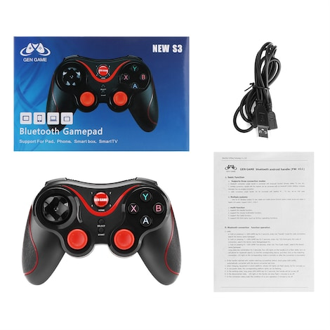 Wireless Bluetooth Connect Gamepad Rechargeable Controller - photo do producto 1