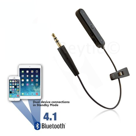 [REYTID] Bose SoundTrue / QuietComfort 25 QC25 Replacement Audio Cable / Bluetooth Adapter Black