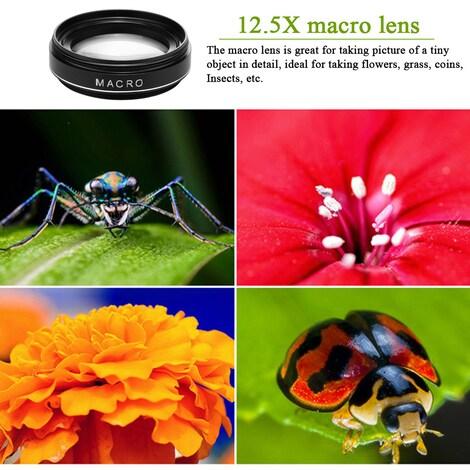 Phone Camera Lens 2 in 1  Black Plastic - product photo 4