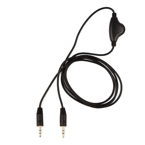 [REYTID] Talkback Chat Cable w/ Vol Control for Turtle Beach & Astro Gaming Headsets - Xbox ONE PS4 Black