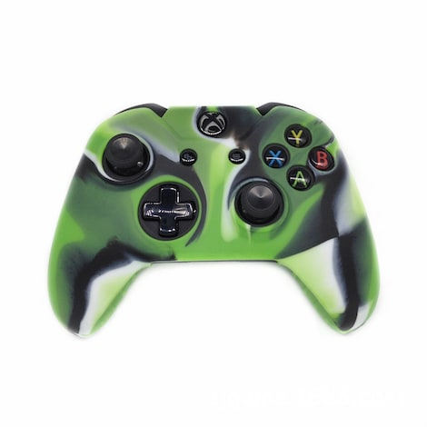 [REYTID] Xbox ONE Controller Skin Silicone Protective Rubber Cover Gel Grip Case - Green/Black/White Multi-colour XBOX ONE