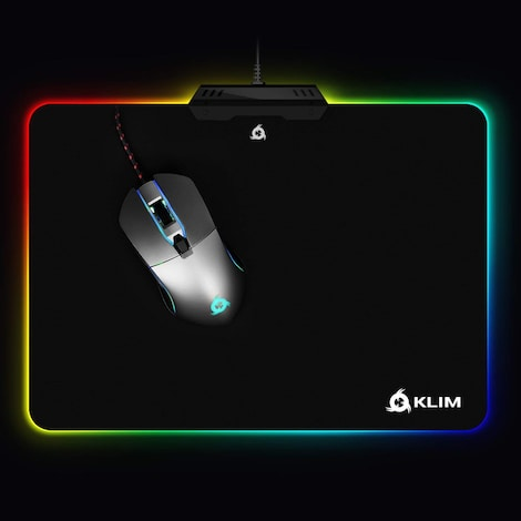 KLIM RGB Chroma Mousepad USB, 38.4 x 30.6 x 2.2 cm - Black with Lighting Effects [ New Version ] - product photo 2