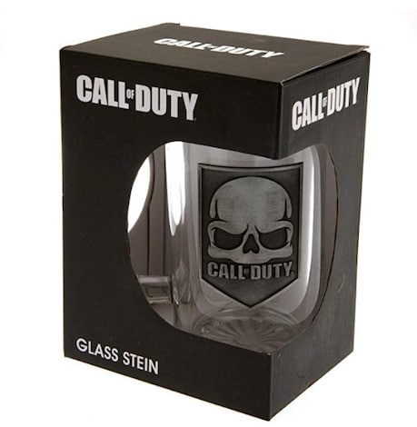 Call of Duty Glass Tankard Boxed Licenced Product Brand New Classic Logo