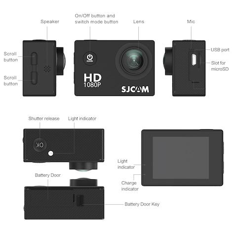 SJCAM SJ4000 12MP Action Camera Underwater Camera Sport Camcorder - product photo 7