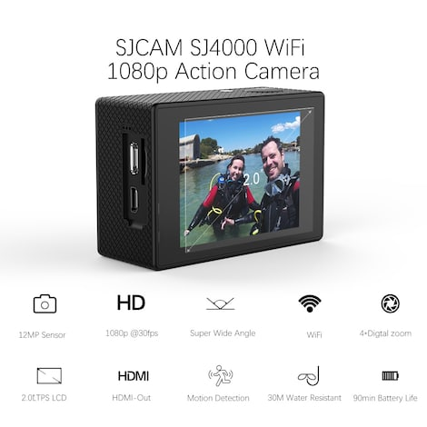 SJCAM SJ4000 WIFI Action Camera FHD1080P waterproof Underwater Camera 12MP Sports Camcorder  Red - product photo 4