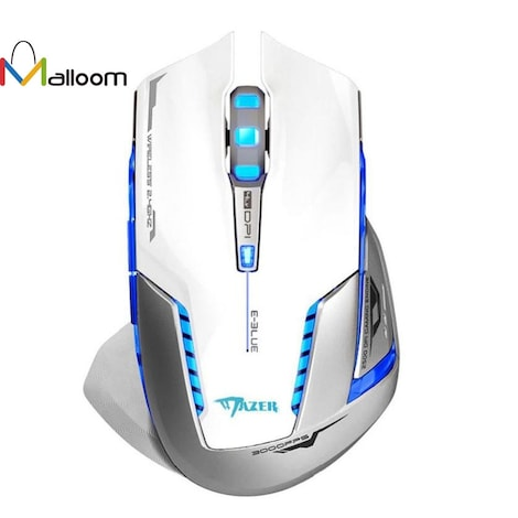 Gaming Mouse Laser Battery Finger mouse  White - product photo 2