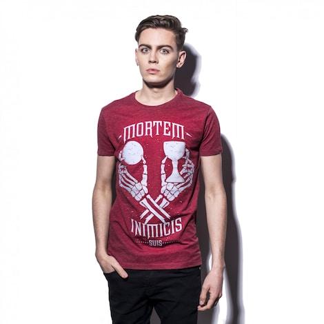 UNCHARTED 4: Mortem Inimicis Suis Men's T-Shirt S Red - box