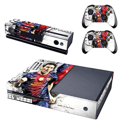 [REYTID] Xbox One Console Skin / Sticker + 2 x Controller Decals & Kinect Wrap - Messi XBOX ONE Multi-colour