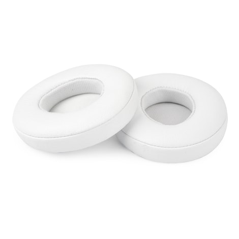 [REYTID] Apple Beats By Dr. Dre Solo3 White Replacement Ear Pads Cushion Kit - Solo 3.0 - 1 Pair White