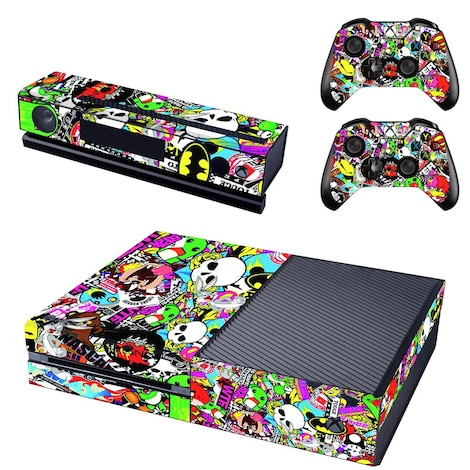 [REYTID] Xbox One Console Skin / Sticker + 2 x Controller Decals & Kinect Wrap - Graffiti XBOX ONE Multi-colour