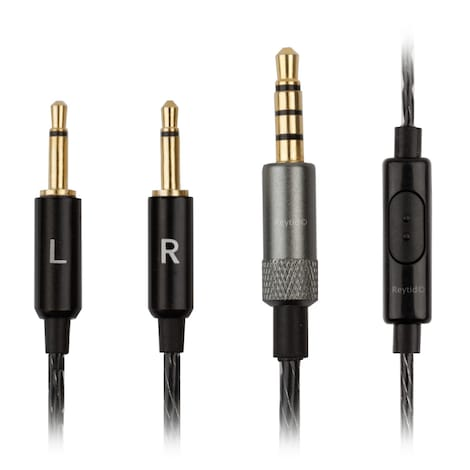 [REYTID] Replacement Cable for Bowers & Wilkins P3 (B&W) Headphones - In-line Remote & Mic Black