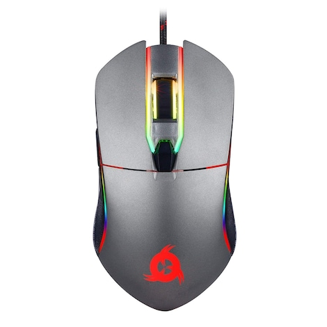 KLIM AIM Chroma RGB Gaming Mouse - Wired USB - Adjustable 500 to 7000 DPI - Programmable Buttons - product photo 1
