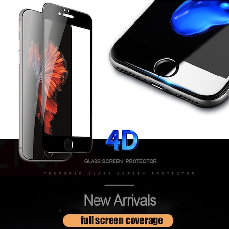 ESVNE 9H Hardness 4D Curved Edge Full Cover Tempered Glass for iphone 6 glass iPhone 7 Glass 6s 7 plus Screen