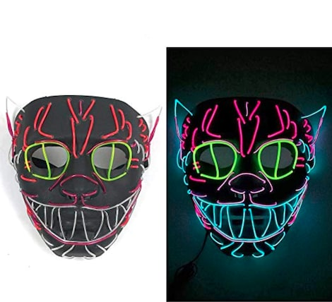 Halloween Pumpkin/Cat face EL Wire Mask Flashing Cosplay LED Mask