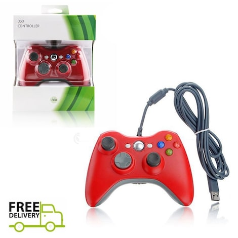 New USB Game Pad Controller For Microsoft Xbox 360 Console / PC Windows XBOX 360 Red - product photo 1