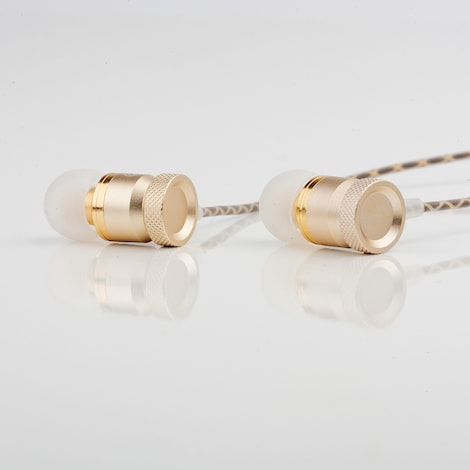 [REYTID] In-Ear Earphones Headphones - HD Sound, Heavy DEEP Bass w/ MIC for iPhone / Android - Gold Gold - product photo 3