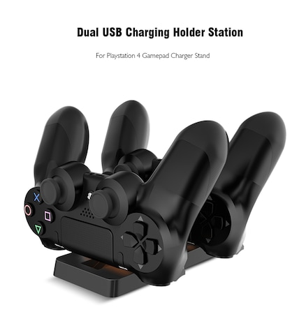 Dual USB Charging Dock Station Stand for PS4 PlayStation
