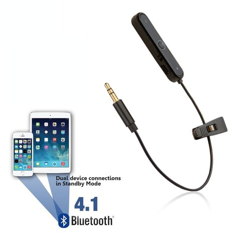 [REYTID] Bluetooth Adapter for JBL J55 J55i J88 J88a J88i Headphones - Wireless Converter Receiver Black