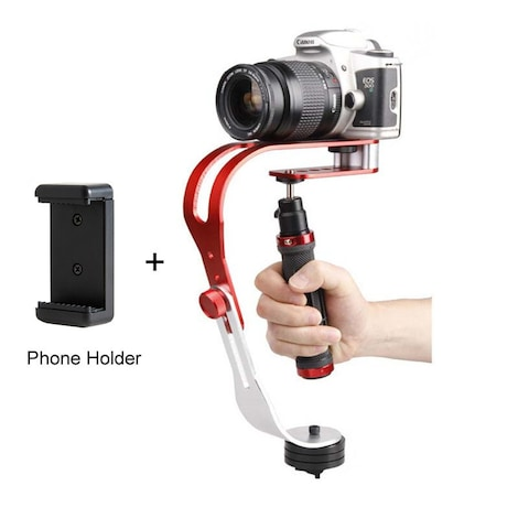 Tscope Alloy Handheld Digital Camera Stabilizer Red Metal