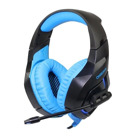 ONIKUMA K1S Game Headset Headphone for PS4 Xbox One Nintendo Switch PlayStation Light Blue - product photo 4