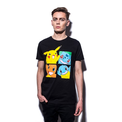 POKÉMON: Pikachu And Friends Men's T-shirt XL Black