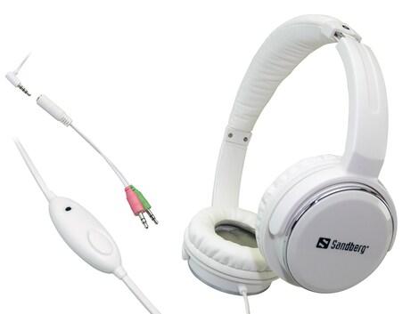 Sandberg Home'n Street Headset White