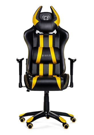 DIABLO X-ONE HORN Gaming Chair Black & yellow