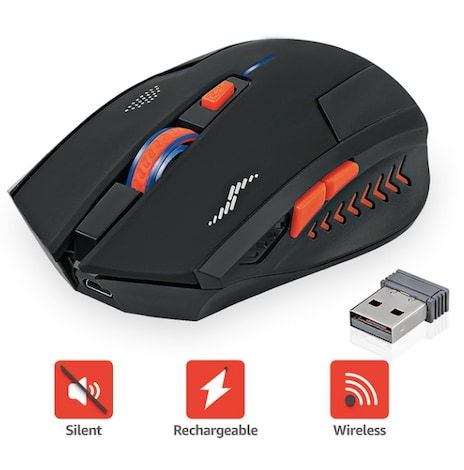 Wireless Gaming Mouse Rechargeable -  2400DPI