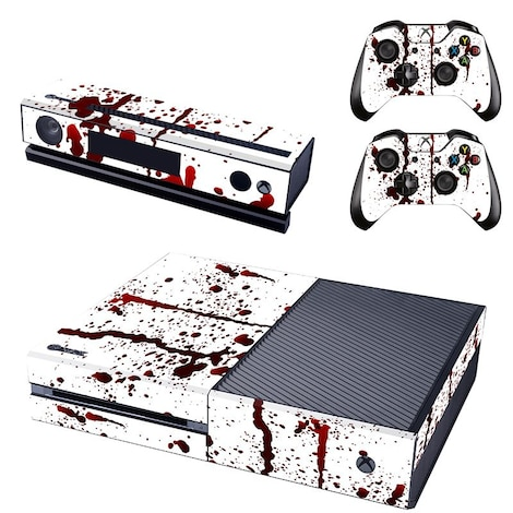 [REYTID] Xbox One Console Skin / Sticker + 2 x Controller Decals & Kinect Wrap - Blood Splatter Multi-colour XBOX ONE