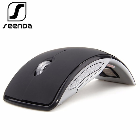 SeenDa Wireless Mouse 2.4G Computer Mouse Foldable Travel Notebook Mute Mouse Mini Mice USB Nano Receiver
