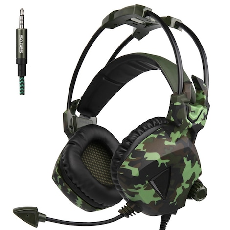 SADES SA-931 PS4 Camouflage Gaming Headphones With Microphone Green