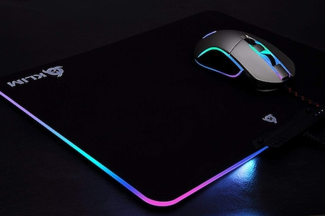 KLIM RGB Chroma Mousepad USB, 38.4 x 30.6 x 2.2 cm - Black with Lighting Effects [ New Version ] - product photo 3